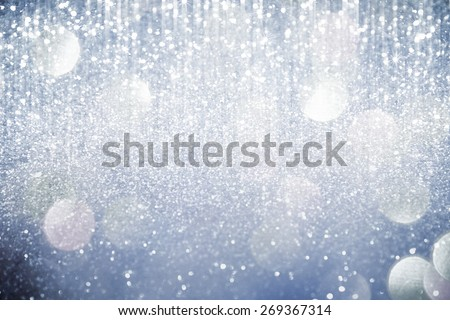 Abstract silver  lights on background - stock photo