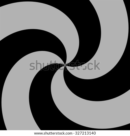 Abstract simple black gray swirl - stock photo