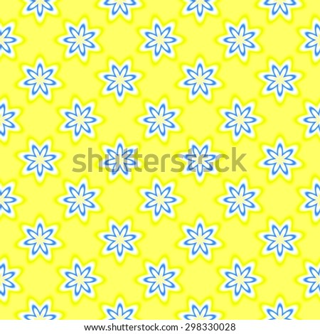 Abstract simple floral pattern. Texture background.  Seamless illustration. - stock photo