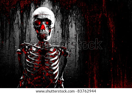 abstract skeleton background