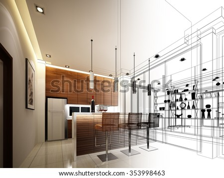 sketch kitchen stock images, royalty-free images & vectors