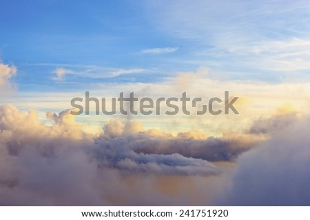 Abstract sky cloud as background - stock photo