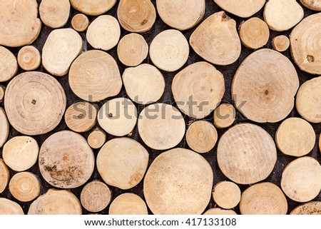 abstract  sliced brown wood texture background