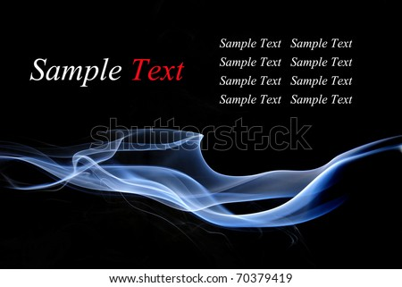 Abstract smoke - stock photo