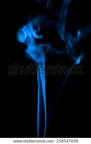 Abstract smoke isolated in black background