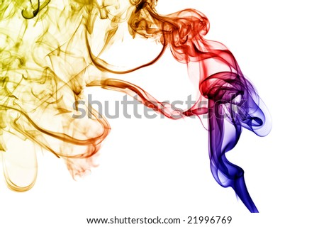 abstract smoke isolated on white background