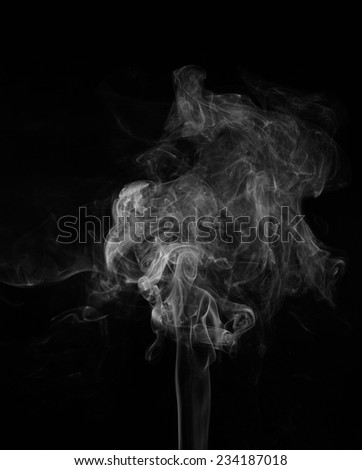 Abstract smoke moves on a black background - stock photo