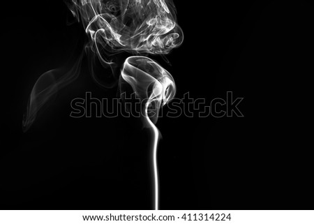 abstract smoke on a black background - stock photo