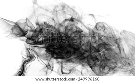 Abstract smoke on white background. - stock photo