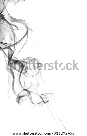 Abstract smoke on white background. Texture. Design element. Abstract art. The smoke from the incense sticks. Macro shooting. - stock photo