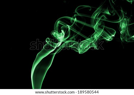 Abstract smoke trail image