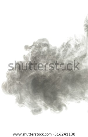 Abstract smoke Weipa pairs. The concept of alternative non-nicotine smoking. Smoke on a white background. E-cigarette. Evaporator. Taking Close-up. Vape