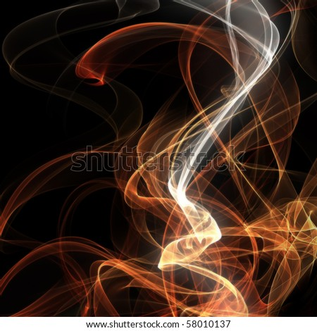 abstract smoking background - stock photo