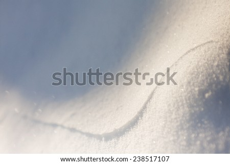 Abstract snow shapes