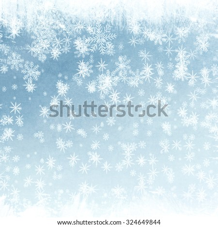 Abstract snowflake background for Your design - stock photo
