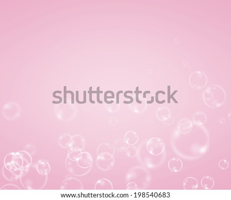 Abstract soap bubble on pink background.