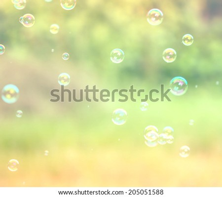 Abstract soap bubble vintage background