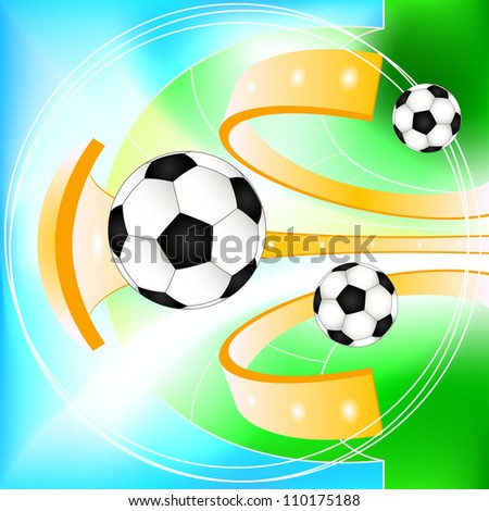 Abstract soccer ball  background. Raster copy - stock photo