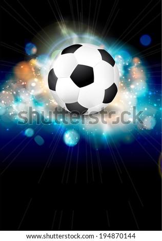 Abstract soccer ball brochure illustration.