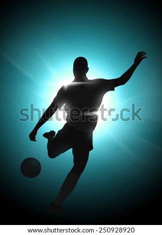 Abstract soccer or football background with empty space - stock photo