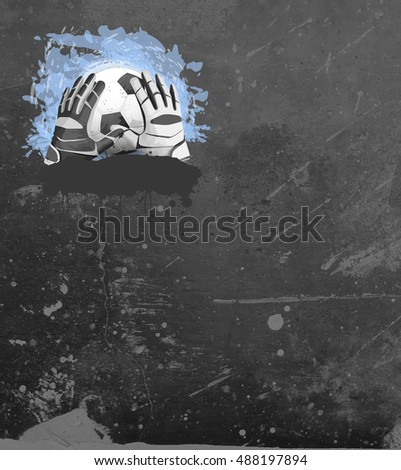 Abstract soccer or football goal-keeper sport invitation poster or flyer background with empty space