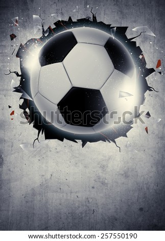 Abstract soccer or football sport invitation poster or flyer background with empty space - stock photo