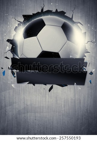 Abstract soccer or football sport invitation poster or flyer background with empty space