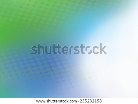 Abstract soft blue and green dot swirl medical or business background illustration with plenty of copy space.  - stock photo