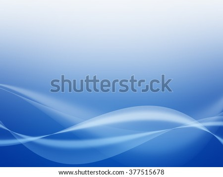 Abstract Soft  waves with blue background