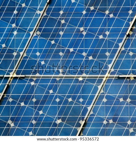 Abstract Solar Panel - stock photo
