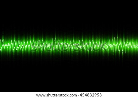 Abstract Sound equalizer wave on black background.