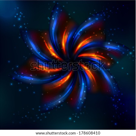 Abstract space background,raster version - stock photo