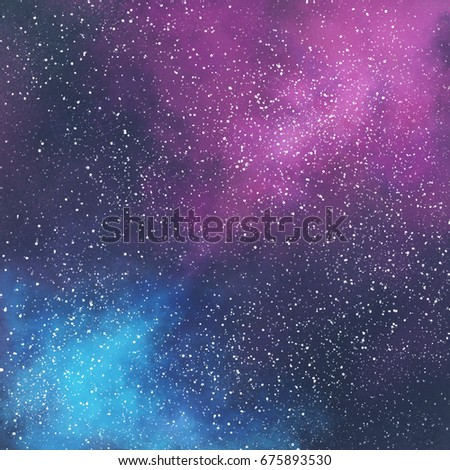 Abstract Space Galaxy Background With Stars And Nebula Illustration Painting