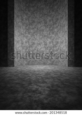 Abstract space with a vertical niche in minimalist style - stock photo