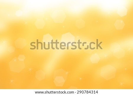 abstract sparkle bokeh on yellow background