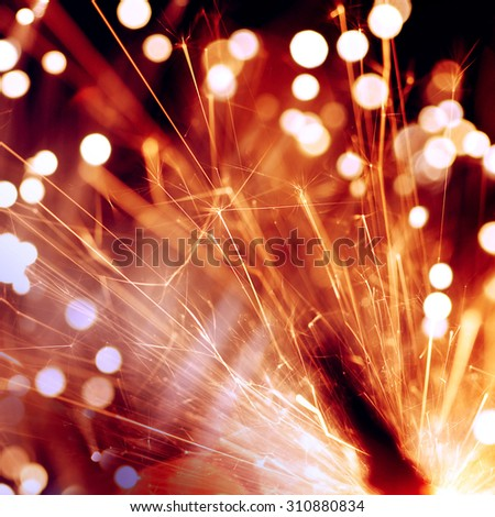 abstract sparkler - stock photo