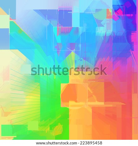 Abstract spectrum art background - stock photo