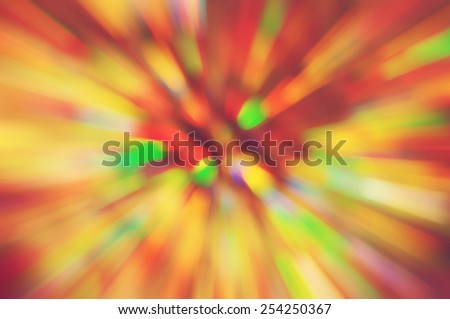 Abstract speed light background. Radial motion blur / zooming effect.