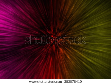 Abstract speed lines background. dark red yellow purple Radial motion move blur.zooming effect.