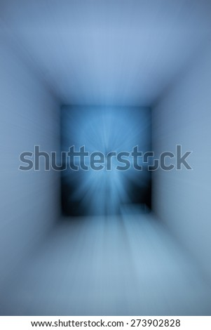 Abstract speed lines background. Radial motion blur / zooming effect. Is square. - stock photo