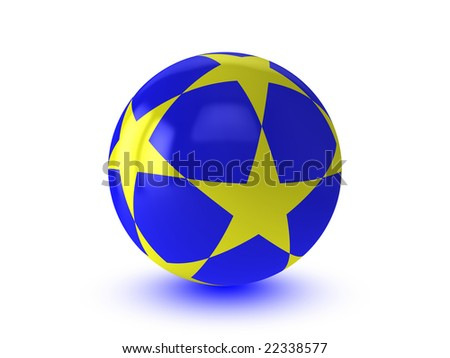 Abstract sphere on white background - stock photo