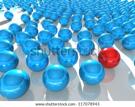 abstract spheres on reflective surface - reflective balls background