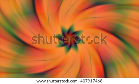 Abstract spinning floral colorful background