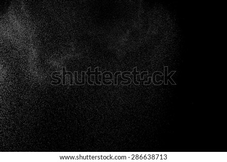 abstract splashes of water on a black background