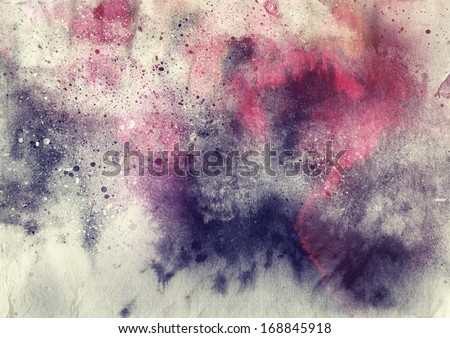 Abstract splatter painting background  - stock photo