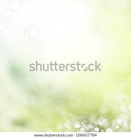 abstract spring background with bokeh effects. - stock photo