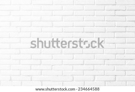 Abstract square white brick wall background - stock photo