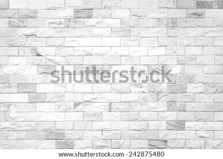 Abstract square white brick wall background. - stock photo