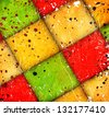 abstract squares on grunge background - stock photo