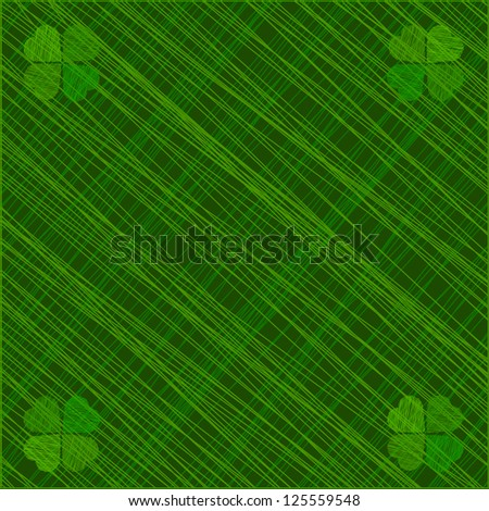 Abstract St. Patrick's day illustration. Raster version. - stock photo